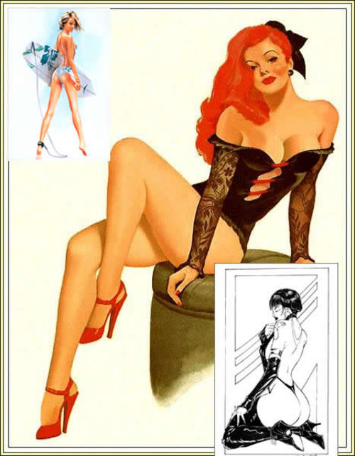 Product picture mixed pin ups vintage xrate