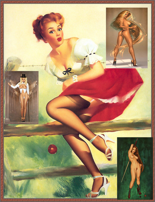 Product picture mixed pin ups vintage to xrate art part 6